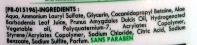 Douche crème surgras hypoallergénique seve d'aloe vera et beurre d'amande - Ingredients - fr