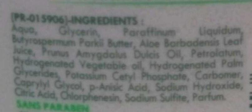 Baume surgras Hypoallergénique Sève d'aloe vera - Ingredients - fr