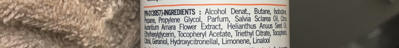 Déodorant extra doux 24 h fleur d'oranger - Ingredients