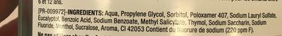 Listerine Zero Bain De Bouche Quotidien - Ingredients