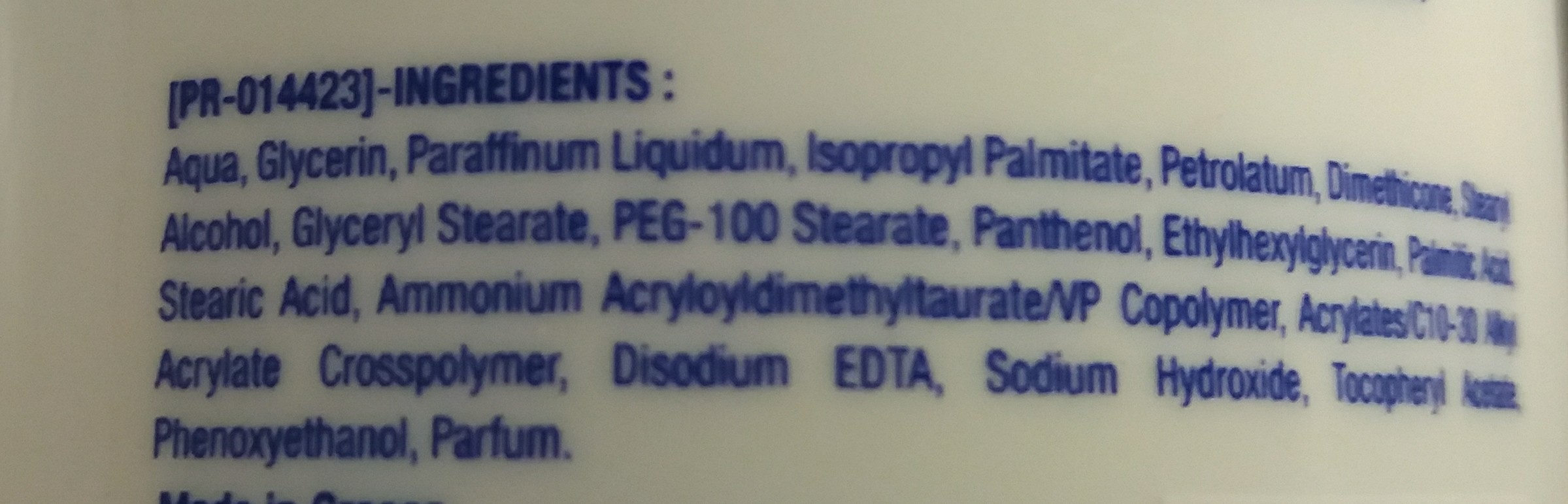 Sofort einziehende Handcreme - Ingredients
