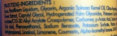 Spray hydratant Nutrition express - Ingredients
