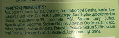 Shampooing Purifiant Douceur à l'Argile Blanche & à l'Aloe Vera - Ingrédients