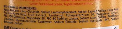 Shampooing Extra Doux 2 en 1 avec de l'Abricot - Ingredients - fr