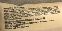 Savon liquide - Ingrédients
