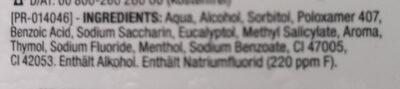Zahn & Zahnfleischschutz - Ingredients