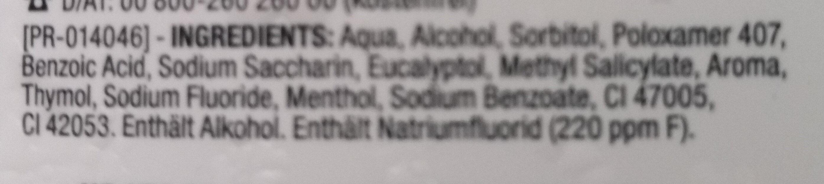 Zahn & Zahnfleischschutz - Ingredients - de
