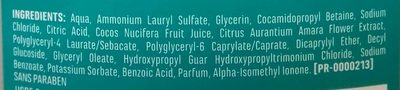 Shampooing hydratation sans silicone - Ingredients - fr