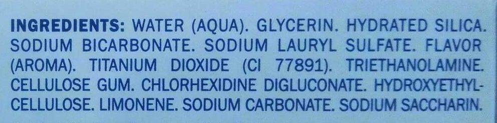 Dentifrice - Ingredients - fr