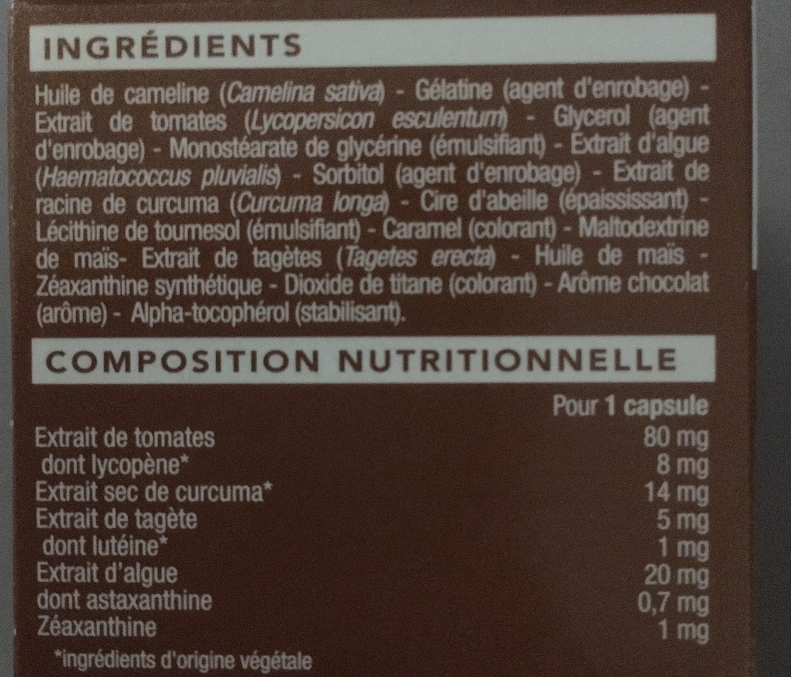 Autobronzant - Ingredients - fr