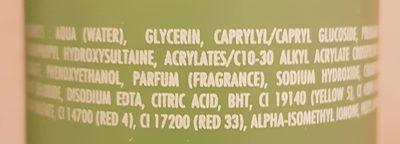 Gel Nettoyant Purifiant - Ingredients - fr