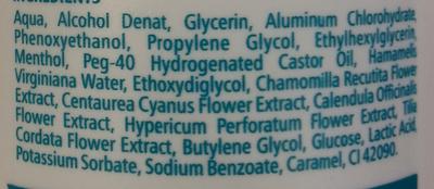 Pre Epilation Tonic - Ingredients