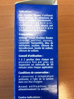 Innoxa Blue Drops Eye Lotion 10ML (ocular Care) - Ingrédients