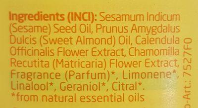 Weleda Bébé Calendula - Huile de Massage Douceur - Ingredients