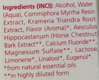 Bain de Bouche à la Myrrhe - Ingrédients