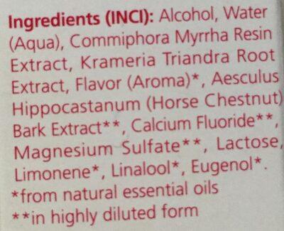 Bain de Bouche à la Myrrhe - Ingredients