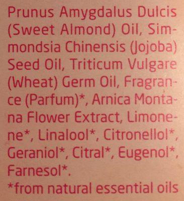 Huile De Massage Vergetures - 100 ML - Weleda - Ingredients