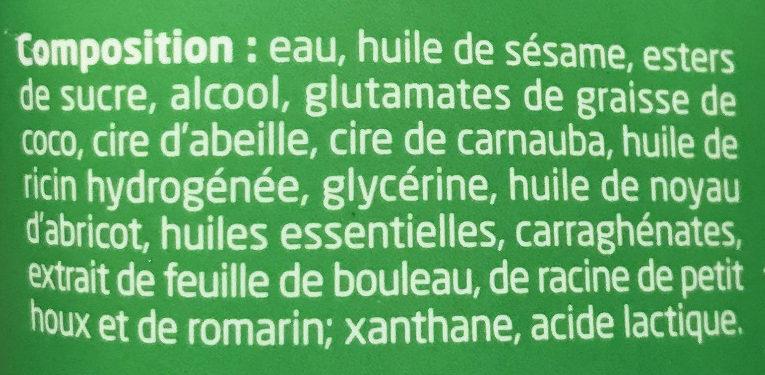 Crème de douche gommante Bouleau - Ingrédients