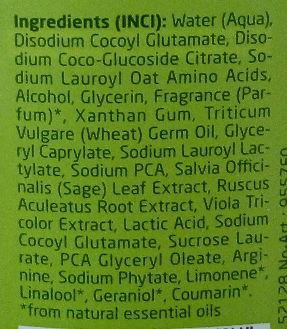 Shampooing équilibrant Blé - Ingredients