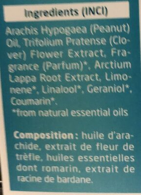 Huile capillaire nourrissante - Ingredients
