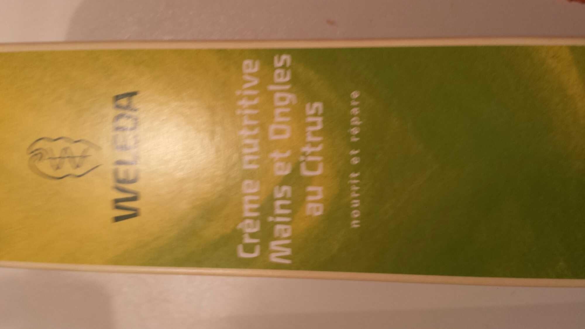 Crème nutritive mains et ongles au citr - Produit - fr