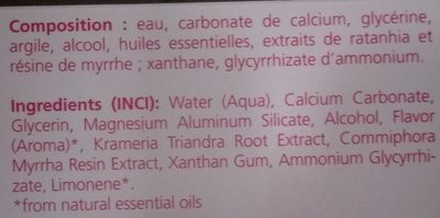 Weleda - Pâte dentifrice au Ratanhia - Ingredients