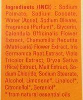 Savon végétal au calendula - Ingredients - fr