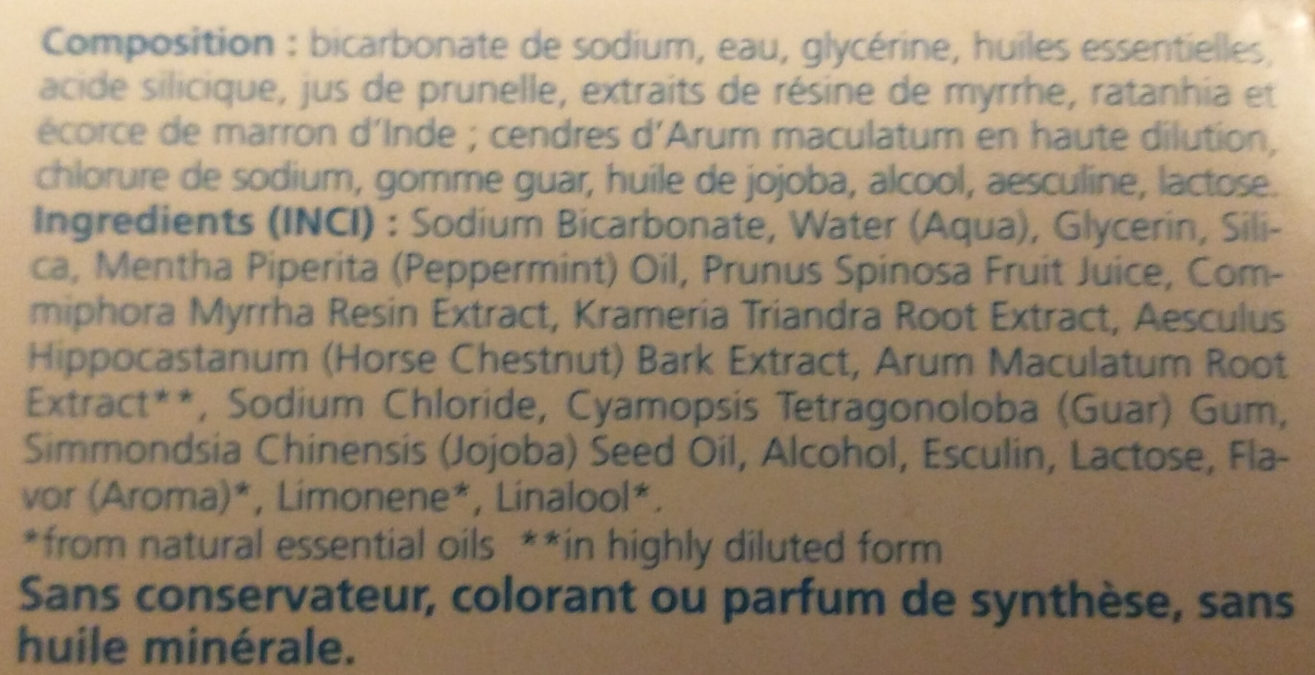 Pâte dentifrice saline - Ingredients - fr