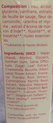 Gel Gingival à La Sauge - 30 ML - Weleda - Ingrédients