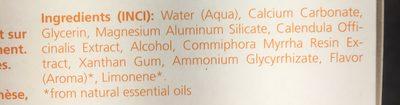 Dentifrice Au Calendula - Ingredients
