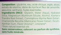 Gel dentifrice végétal - Weleda - Ingredients