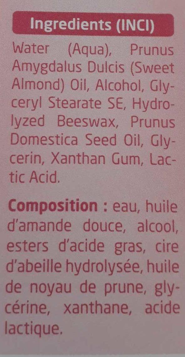 Amande crème confort absolu - Ingrédients
