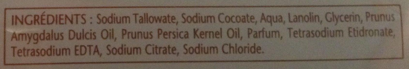 Savon surgras Lait et miel - Ingredients