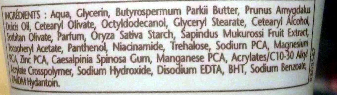 Nutrissance Crème mains Nourrissante - Ingredients