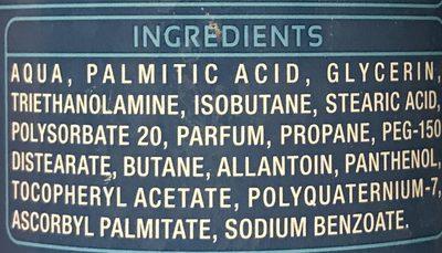 Mousse à raser hydratante a l'allantoïne - Ingredients - fr