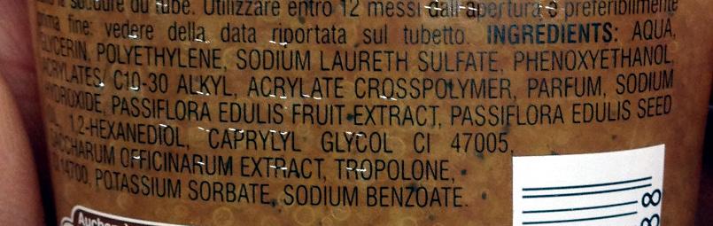 Gommage corps à l'huile de fruit de la passion - Ingredients