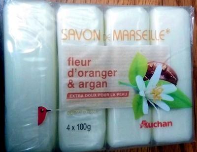 Savon de Marseille fleur d'oranger et argan - Product