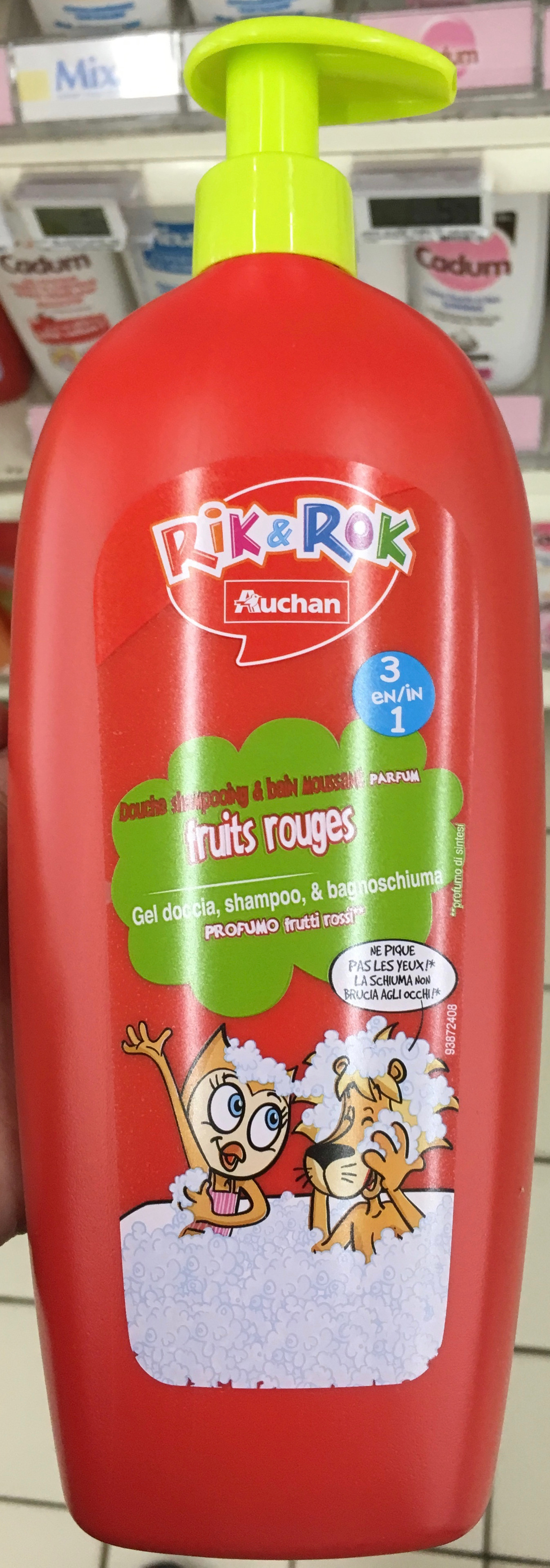 Rik & Rok douche shampoing et bain moussant fruits rouges - Product