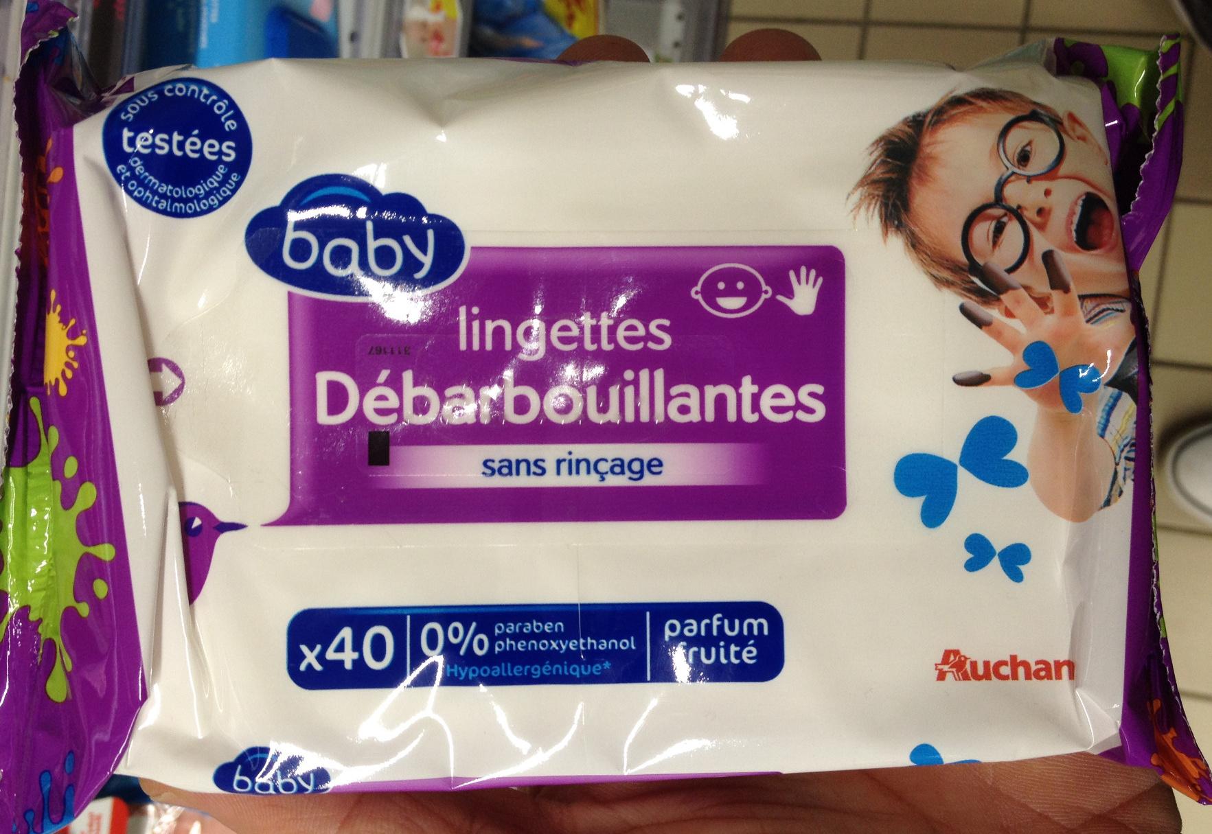 Lingettes débarbouillantes sans rinçage parfum fruité - Produit