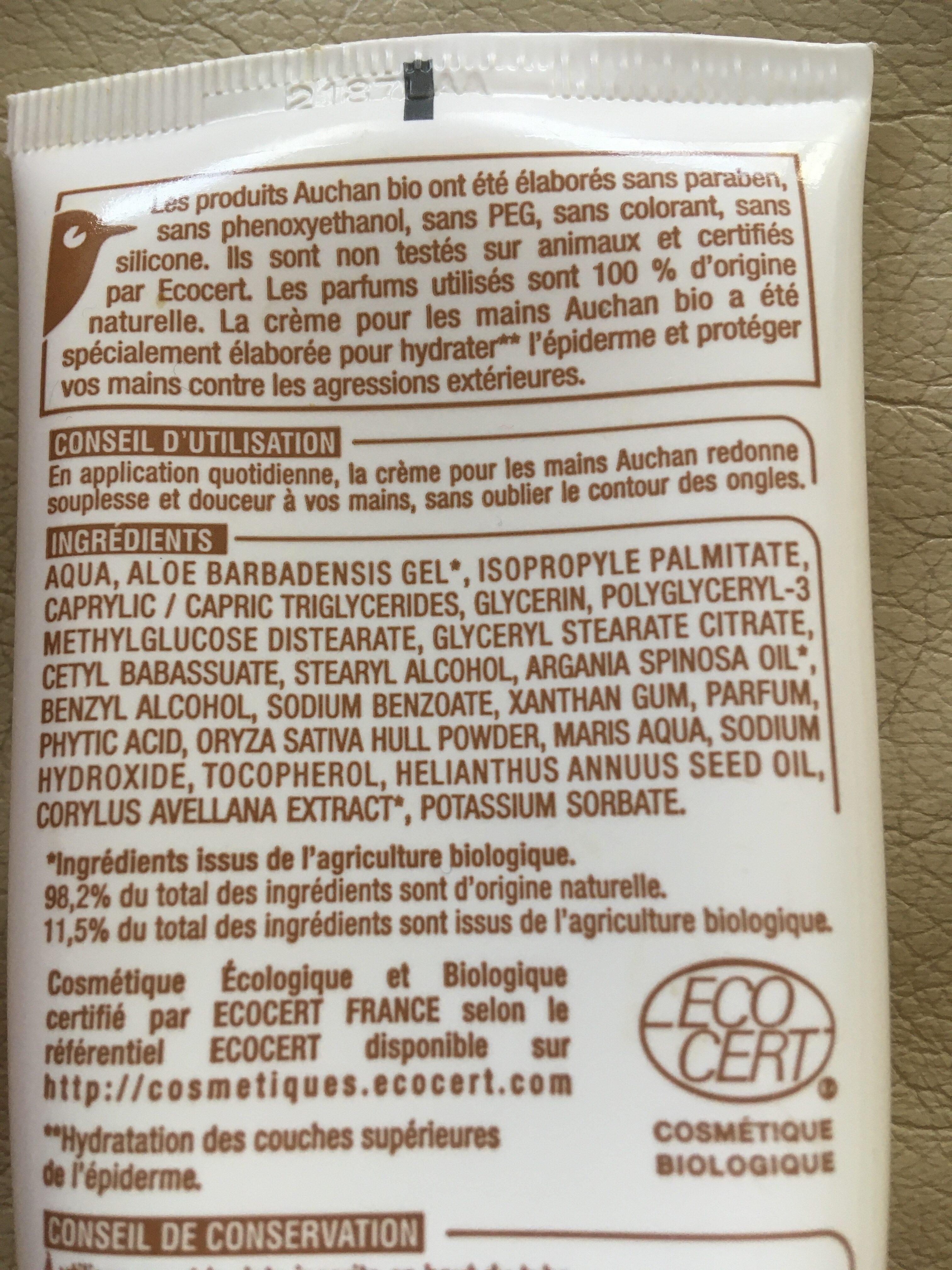 Crème pour les mains - Ingredients - fr
