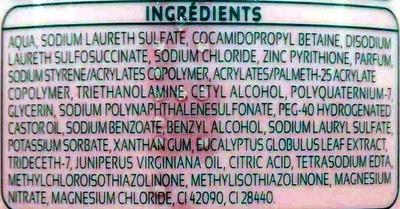 Shampoing extra doux Cèdre & Eucalyptus antipelliculaire - Ingrédients