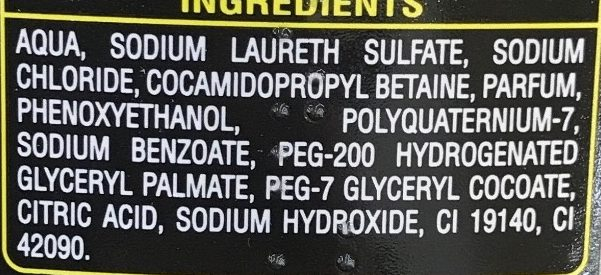 Shampooing douche Men Boost 3 en 1 - Ingredients - fr