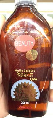 Huile solaire peau satinée toucher sec - Produit