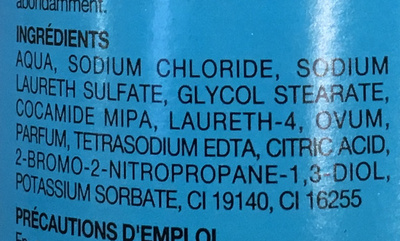 Shampooing aux oeufs - Ingredients