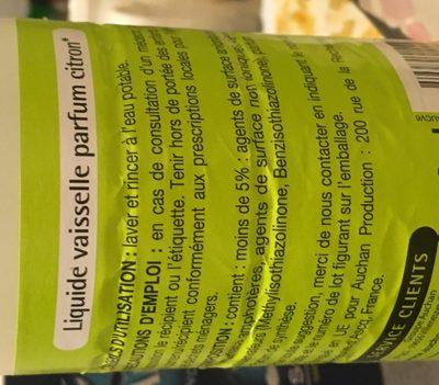 Liquide vaisselle parfum citron - Ingredients