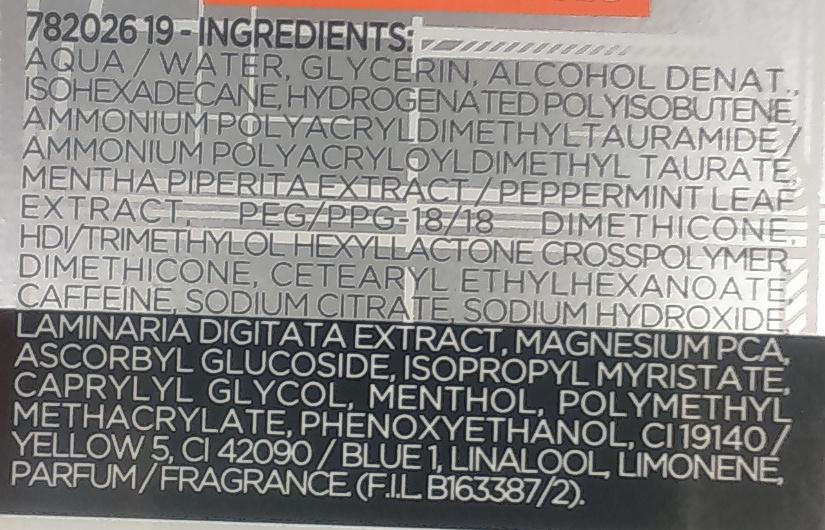 Hydro Energetic Soin Hydratant Anti-Fatigue 24H - Ingredients - fr