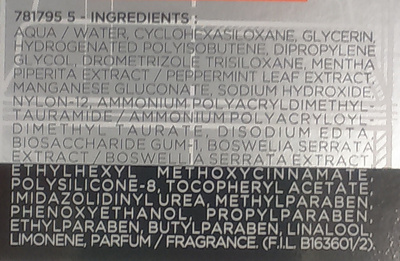 Stop Rides Soin Hydratant Anti-rides d'expression Boswelox - Ingredients