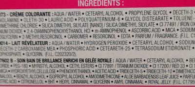 Casting crème gloos - Ingrédients