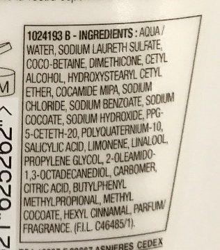 Elvive Energizzante Shampoo Delicato Citrus.Cr - Ingredients