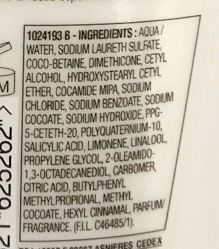 Elvive Energizzante Shampoo Delicato Citrus.Cr - Ingrédients - it